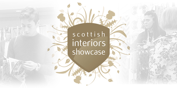 A header logo with background image for the Scottish Interior Showcase 2018